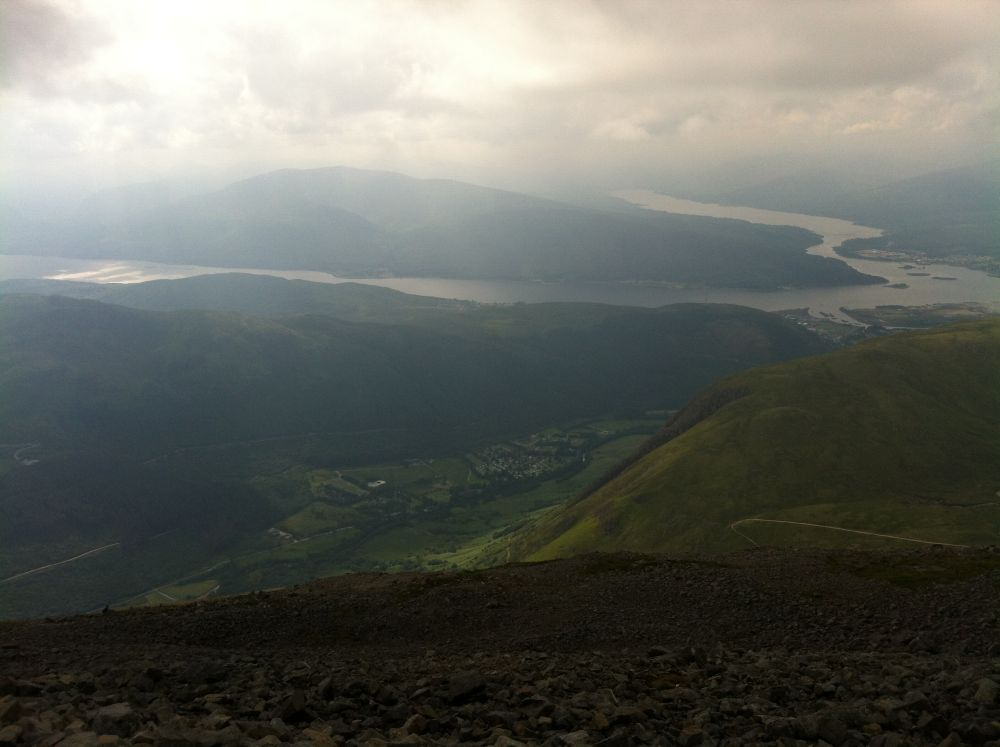 Day 7 - Making my way back down Ben Nevis towards Fort William, taking the main route down.